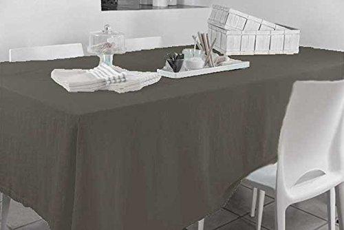HomeMaison Nappe Rectangulaire, Coton, Anthracite, 250x140 cm
