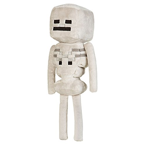 JINX Minecraft Skeleton Plush Stuffed Toy, White, 12' Tall