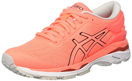 Asics Gel-Kayano 24, Zapatillas de Running para Mujer, Rosa (Flash Coral/Black/White), 37 EU