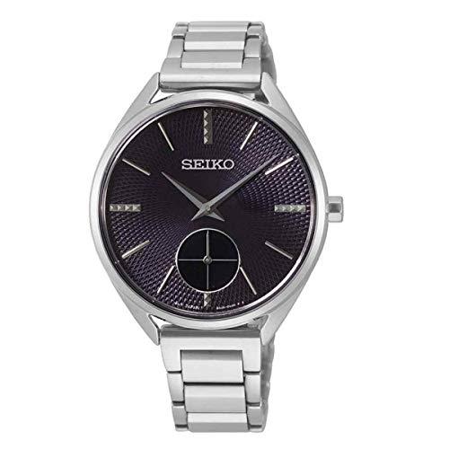 Seiko Damen Analog Quarz Uhr mit Stoff Armband 1
