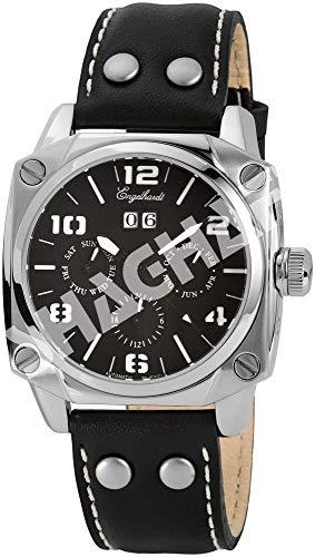 Engelhardt Herren Analog Mechanik Uhr mit Leder Armband 387721029013