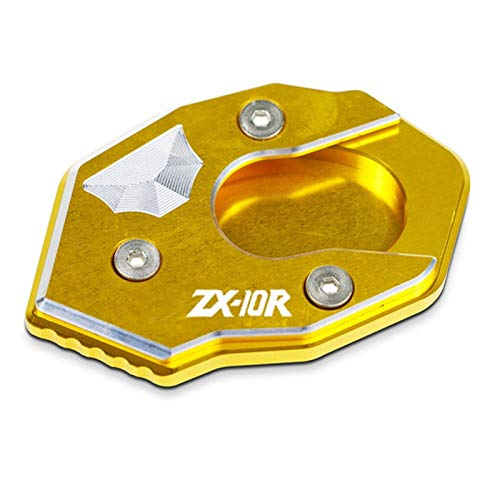 Caballete Lateral Moto para Kawasaki ZX10R ZX-10R Todos los años CNC Kickstand de la extensión de la extensión del pie del pie Placa de Soporte de la Placa de Soporte de la Placa de ampliación