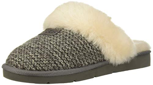 UGG Women's W Cozy Knit Slipper, charcoal, 12 M US