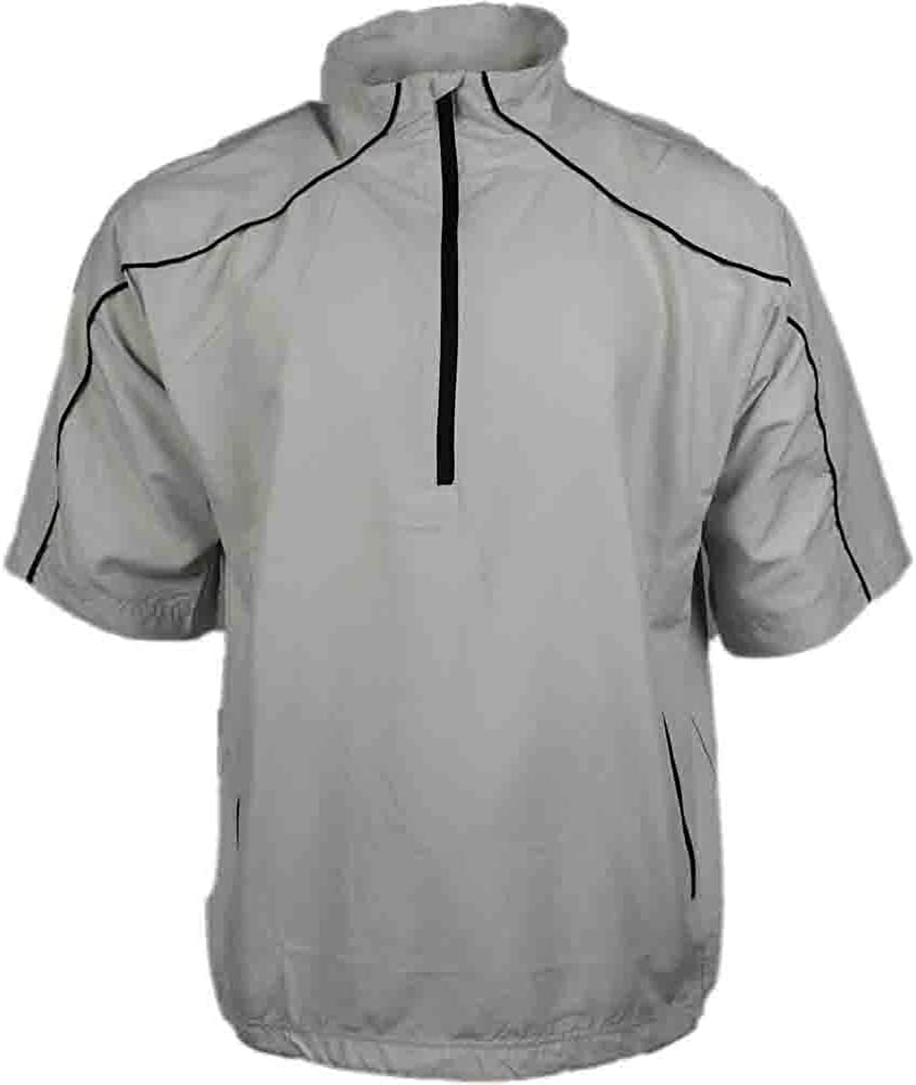 PAGE and TUTTLE Mens Free Swing Peached Windbreaker Athletic Jacket - Off White