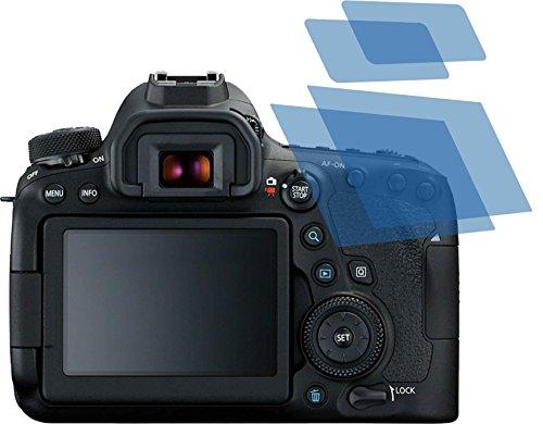 4ProTec I 4X Crystal Clear klar Schutzfolie für Canon EOS 6D Mark II Premium Bildschirmschutzfolie Displayschutzfolie Schutzhülle Bildschirmschutz Bildschirmfolie Folie