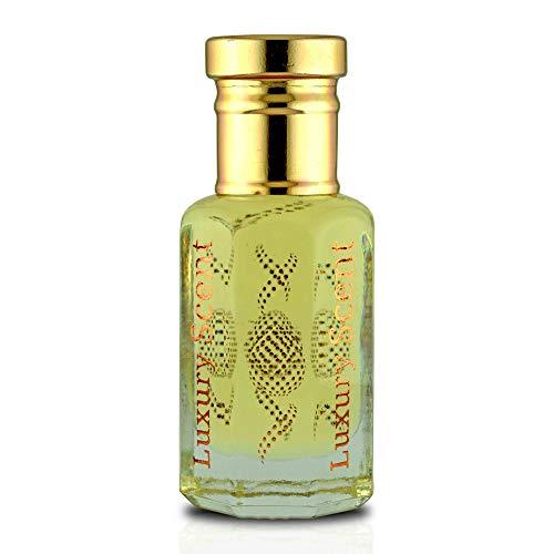 Aceite de perfume de piel azul de almizcle picante 12 ml árabe rollo en botella de aceite corporal por Luxury Scent de calidad premium UNISEX Attar fragancia dura mucho tiempo.