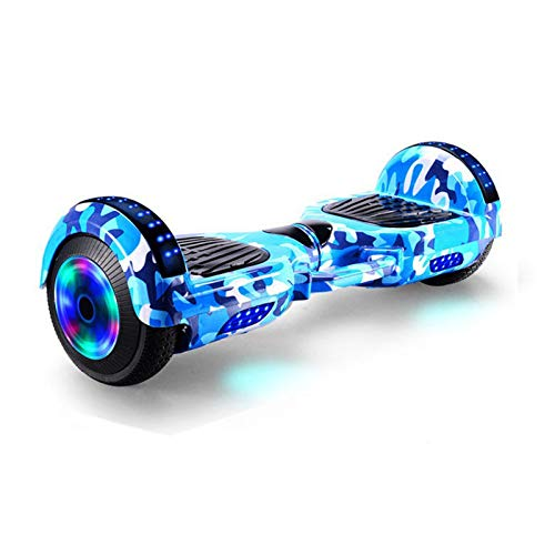 DATUI Tragbar Selbst Balancing Elektro-Scooter, 2 Räder Selbst Balancing Hoverboard, mit Bluetooth, LED-Licht...