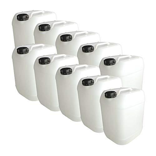 Trevendo® 10 Stück 20 Liter Leerkanister aus HD-PE, DIN 61, lebensmittelecht