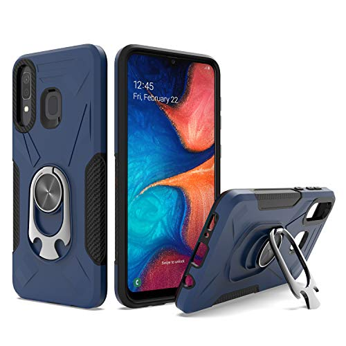 UNC Pro 2 in 1 Cell Phone Case w/Bottle Opener Kickstand for Samsung Galaxy A20 / A30 / A50, TPU Hybrid Shockproof Bumper Anti-Scratch Dual Layer Case, Blue