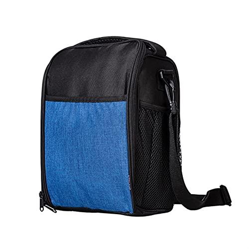 LCISCOUP Bolsa Almuerzo Bolso del Almuerzo del Enfriador Aislado portátil for Las Mujeres del Hombro Thermal Bento Box Bolso Bolso Niños Picnic Organizador Bolsa (Color : Blue)