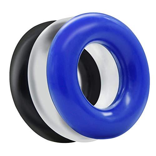 Tonsee 3pcs doux anneau de retard en silicone anneau de silicone imperméable se détendre pour couple amoureux