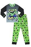 The PyjamaFactory - Pijama con el texto «Crassh» de «El Increíble Hulk» oficial de Marvel para niños Verde verde 6-7 Years