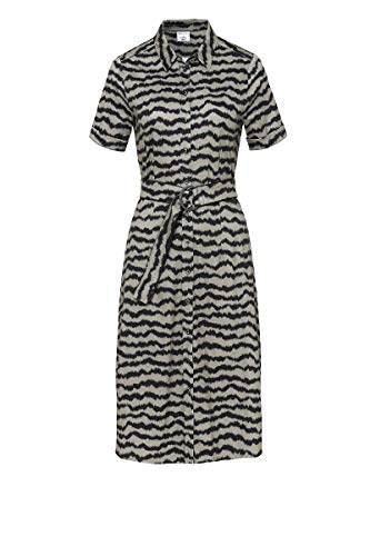 DeSoto Damen Kleid Kim Kurzarm mit Animalprint Zebra, Größe:42, Farbe:Khaki Zebra Print(840)
