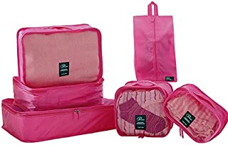 クロース(Kroeus)トラベルポーチ6点セット アレンジケース 軽量 靴袋 収納ポーチ 衣類 出張用 旅行用