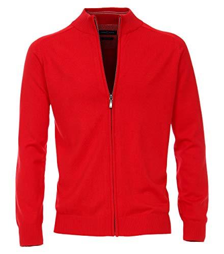 CASAMODA 004450 - Chaqueta de punto para hombre, con logotipo bordado rojo XXL