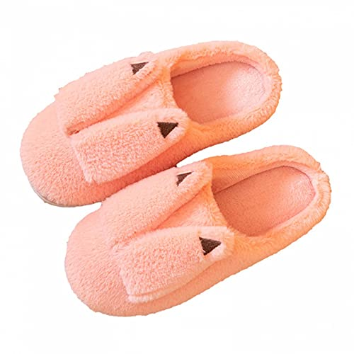 GJKK Damen Herren Hausschuhe Plüsch Pantoffeln Winter Warm Hausschuhe Weiche Bequeme Flacheschuhe rutschfeste Outdoor/Indoor 2021 neue