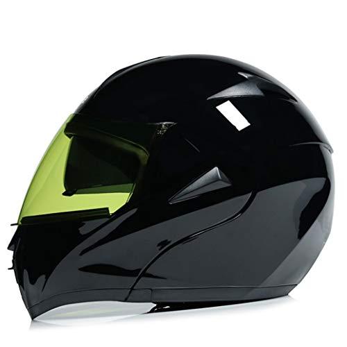 OLEEKA Fashion Double Lens Motorradhelm Flip Up Motocross Integralhelm Rennhelm M L XL XXL
