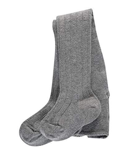 FALKE Unisex Baby Cashmere Rib B TI Strumpfhose, grau (Light Grey Mel. 3390), 12-18 Monate (80-92cm)