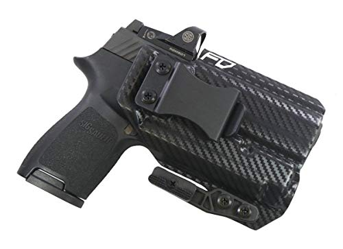 Fierce Defender IWB Kydex Holster Sig P320c RX w/APLc The Paladin Series -Made in USA- (Carbon Fiber)