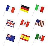 Isuper Países Internacional del indicador del Mundo Stick, de Mano de la pequeña Mini Nacional del banderín Banderas Banderas en Palo, Decoraciones del Partido