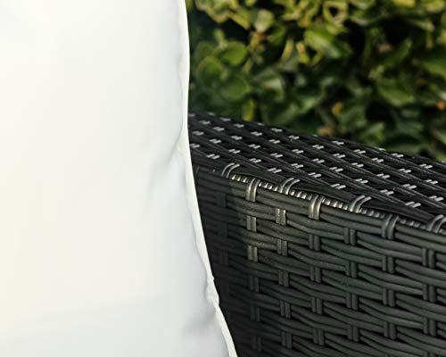 Hansson Polyrattan Lounge Sitzgruppe Gartenmöbel Garnitur Poly Rattan 7 Sitzplätze Bild 6*