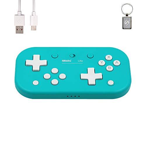8bitdo Lite Bluetooth Gamepad Turquoise Edition Drahtloser Controller für N-Switch/Windows/Raspberry Pi - mit Schlüsselanhänger