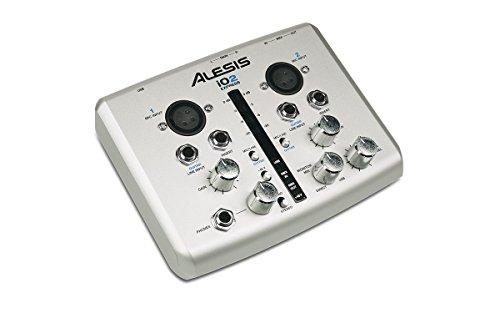 Alesis iO2 Express Interfaccia Audio USB Compatta con 2 Canali e 24-bit/48 kHz di Qualità di Registrazione + DAW Cubase LE