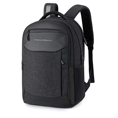 ASPENSPORT School Backpack Men Fashion Bookbag Lightweight Stylish for Boy Lightweight for Girl Black/Red