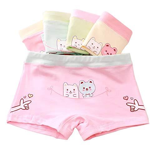 Core Pretty Little Girls Cotton Underwear Toddler Soft Boy Shorts Kids Boxer Briefs Panties(Pack of 5), Bear, 2T - 4T
