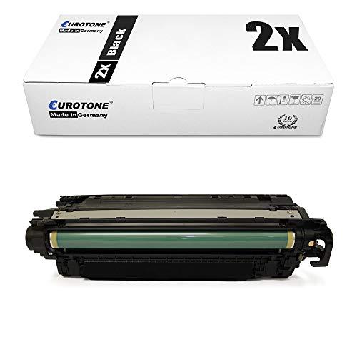 2X Eurotone kompatibler Toner für HP Laserjet Enterprise 500 Color M 551 575 wie CE400A 507A Black