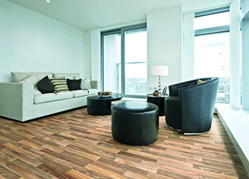 PVC Bodenbelag in leuchtendem Holz (9,95€/m²), Zuschnitt (2m breit, 3m lang)