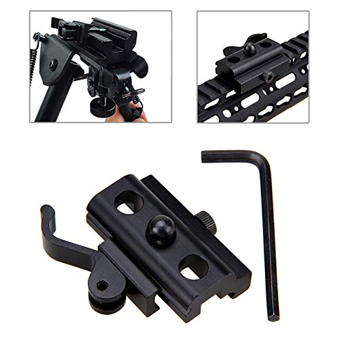 XBF-HUNT, 20mm Jagd QD Harris Art Bipod-Riemen-Schwenker-Adapter-Einfassung Weber Picatinny Schienen-Einfassung for RAS, RIS Schienen-Gewehr-Gewehr-Schwarz