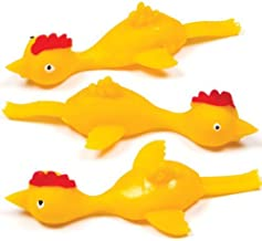 Baker Ross Ltd Stretchy Flying Chickens Perfect Party Bag Stuffer for Children to Play with (Pack of 5)