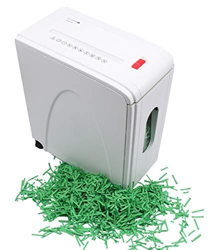 Olympia - Aktenvernichter Schredder Sicherheitsstufe P4 - Papierschredder bis zu 10 Blatt - Aktenschredder Partikelschnitt - Reisswolf weiß - mit Rollen