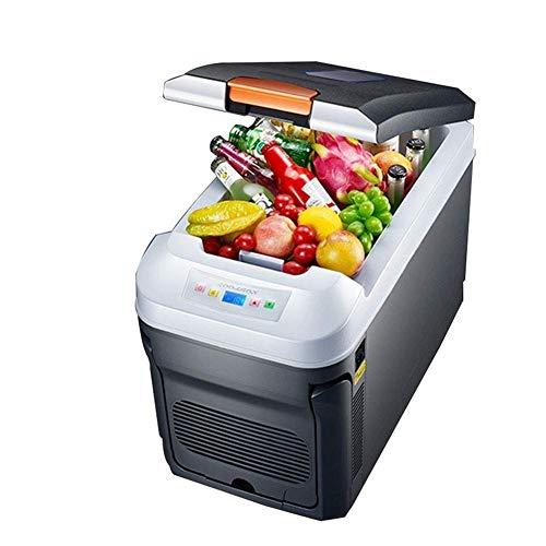 H.Slay Nevera eléctrica SHKUU 35L, refrigerador de Coche, termostático Horizontal, Pantalla Digital de Doble núcleo, Mini Nevera de Camping de Doble Uso para Coche