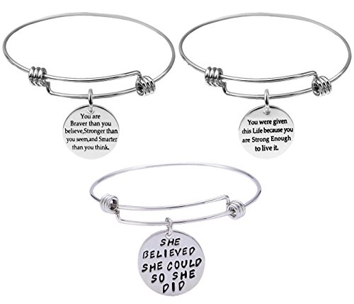 3-Pack Engraved Message Inspirational...