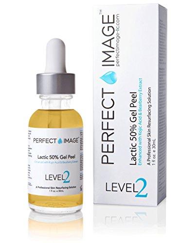 Lactic Acid 50% Gel Peel 1 fl oz.- Enhanced with Kojic Acid & Bearberry Extract (Professional...