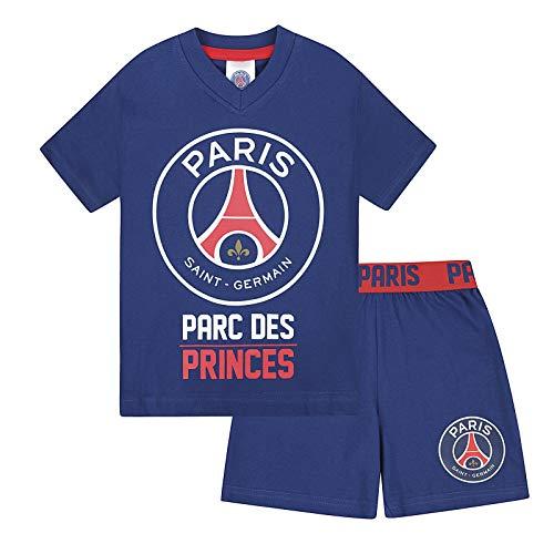 PSG - Jungen Schlafanzug - kurz - Offizielles Merchandise - Geschenk für Fußballfans - 12-13 Jahre