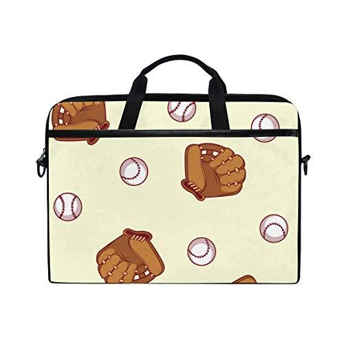 NR 15-15.4 Zoll Laptop Tasche Notebook Handtasche Umhängetasche Aktentasche,Baseballhandschuh