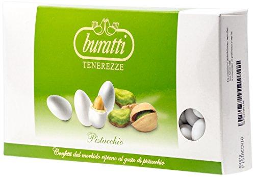 Buratti Confetti con Ripieno al Gusto Pistacchio, Tenerezze Pistacchio - 1000 g
