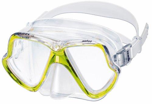 Mares Wahoo buceo Snorkel máscara de cristal templado silicona + máscara caja - amarillo