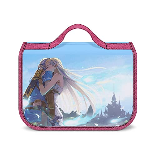 Legend Zelda - Neceser portátil de gran capacidad para guardar cosméticos, unisex, impermeable, con estilo, súper compartimentos