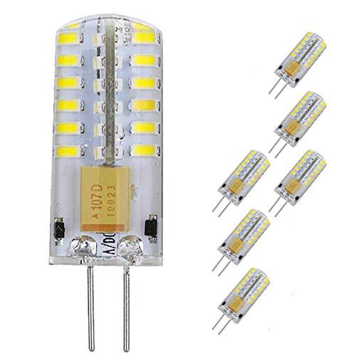 Ultra brillante G4 Bombilla LED 3W Bombilla de luz LED de alta potencia 48 LED reemplazan la bombilla halógena de 30 W Resistente Lámpara de bombillas de bajo consumo Blanco frío 6Pack