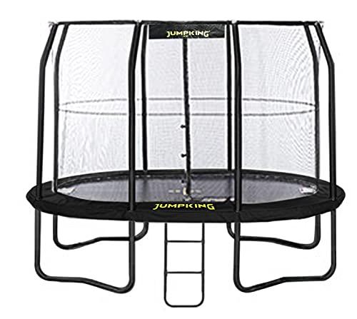 Jumpking trampoline met net en ladder JumpPod Oval 351 x 244 cm zwart (2016)