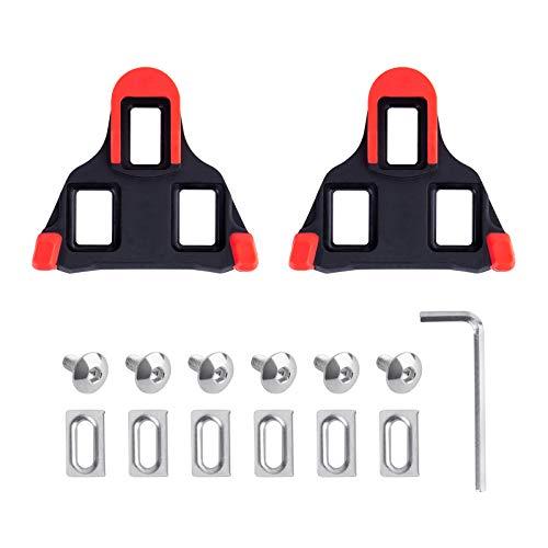 DEXIDUO 1 Stollen im Set-Look, Rote Stollen Fahrradstollen - Kompatibel mit Shimano-Pedalen Indoor Cycling Road Bicycle Cleat Set - Entwickelt für Damen und Herren klick- und Fahrradschuhe