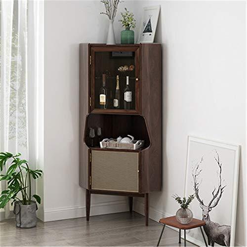 Nvshiyk Aparador de Almacenamiento Multiusos Mesa de Comedor Sala de Estar Acento de Madera Aparador de Buffet Servicio Locker Entrada Cocina para Cocina (Color : Coffee, Size : 140cm)