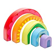 Le Toy Van Petilou Collection Wooden Rainbow Tunnel Set Premium Wooden Toys for Kids Ages 12 months & Up
