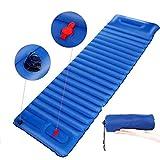 Esterilla Inflable Esterilla Camping Esterilla Hinchable Ligera Portátil Impermeable con Almohada para Viajes/Exterior/Senderismo/Playa190*65*8.5cm (azul)