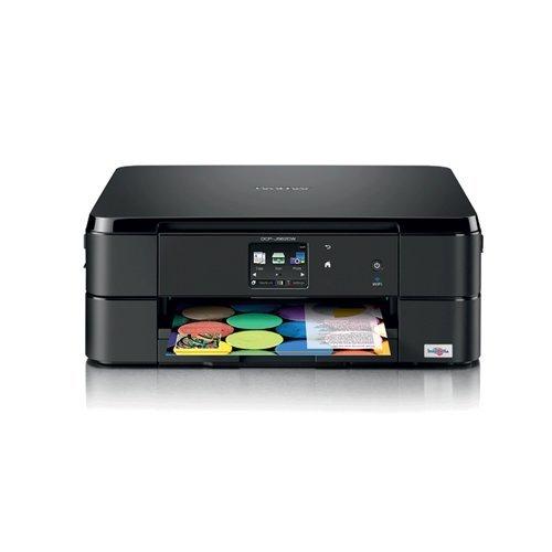 Brother DCP-J562DWR Inyección de Tinta A4 WiFi Negro - Impresora multifunción (Inyección de Tinta, Color, Color, Color, Imprimir, Negro, Cian, Magenta, Amarillo)