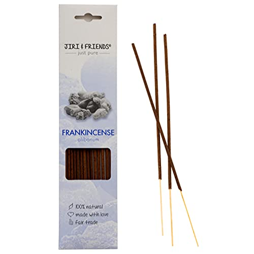 Jiri and Friends Incienso Frankincense (olíbano) para encender y aromatizar, 100% natural, 15...